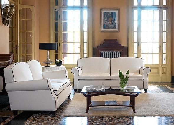 Divani e poltrone moderni o classici in tessuto o pelle - Poltrone letto divani e divani ...