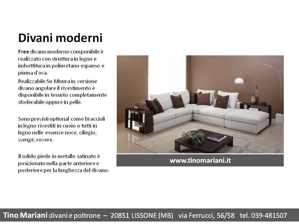 Divani Su Misura : Tino Mariani realizza il tuo divano Su Misura senza sovraprezzo  Divani ...